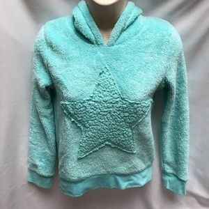 Mint green Circo Hooded Star Pullover